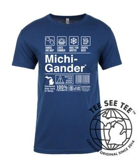 michigander breakdown t-shirt