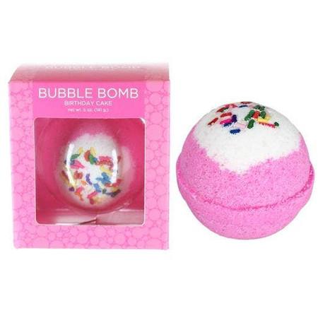 boxed birthday cake bubble bath bomb