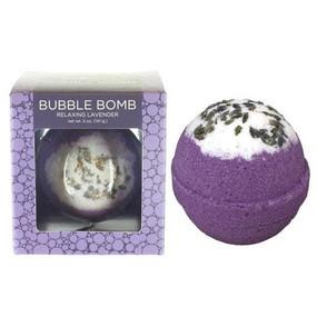 boxed relaxing lavender bubble bath bomb