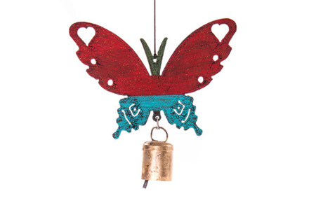 butterfly mobile wind chime (assorted)