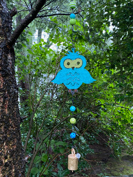 owl mobile wind chime