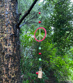 peace sign mobile wind chime (assorted)