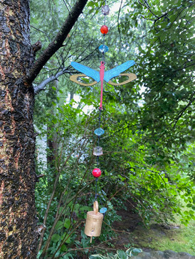 dragonfly mobile wind chime (assorted)