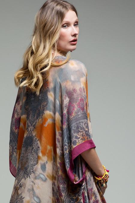 tie dye mandala kimono