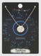 zodiac sign brushed metal necklace, aquarius