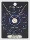 zodiac sign brushed metal necklace, taurus