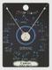 zodiac sign brushed metal necklace, cancer