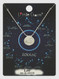 zodiac sign brushed metal necklace, leo