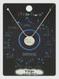 zodiac sign brushed metal necklace, virgo