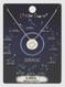 zodiac sign brushed metal necklace, libra