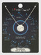 zodiac sign brushed metal necklace, scorpio