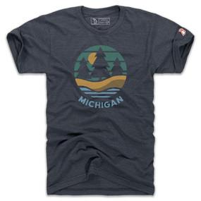 michigan shoreline t-shirt, small, medium, large, extra large, XX large