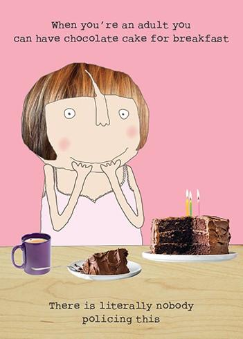cake breakfast birthday card