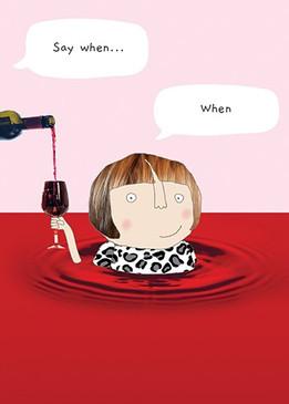 wine when birthday card