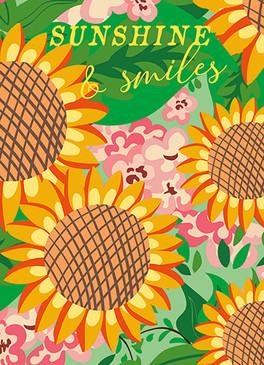 sunflowers birthday card