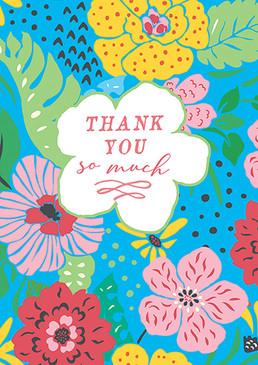 big blooms thank you card