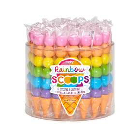 rainbow scoop stacking crayons