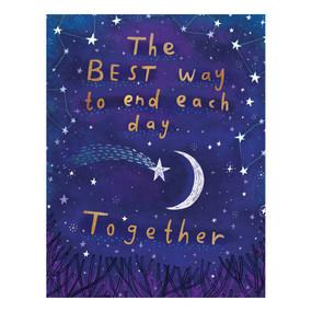 night sky anniversary card