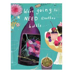 wine another bottle birthday birthday card
