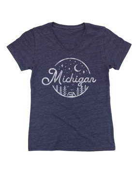 michigan night sky women's tee, small, medium, large, x-large