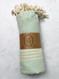 sultan peshtemal cotton beach towel, aqua