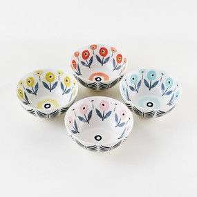 "floral patterned bowl assorted 6"""