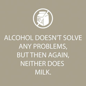 alcohol doesn't solve problems cocktail napkins