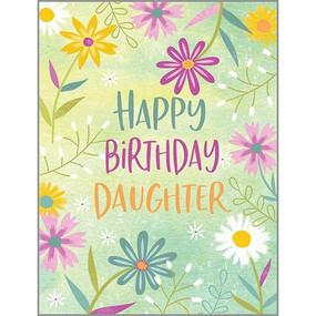 daughter purple daisies birthday card