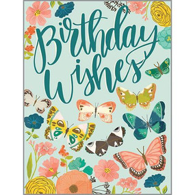 butterfly garden birthday card