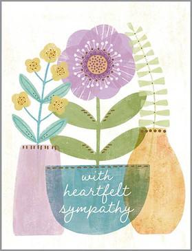 plants sympathy card