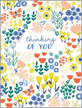 bright spring flowers friendship card