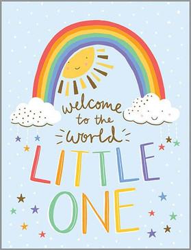 baby rainbow new baby card
