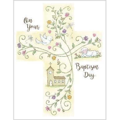 baptism cross baptism card