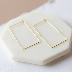 brady earrings, gold