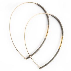 norah earrings, graphite gold