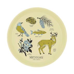 michigan state symbols serving tray