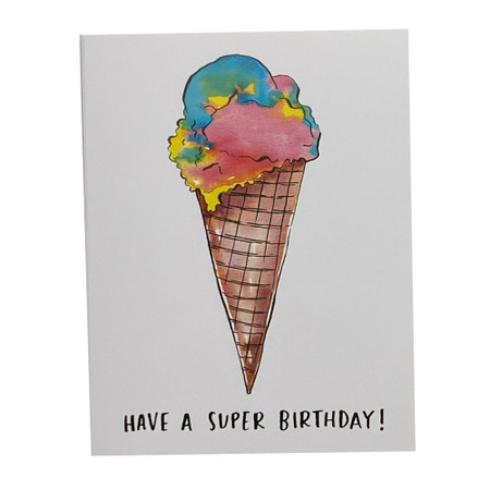 have a super birthday greeting card