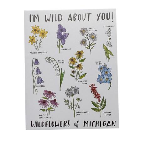 wild flowers of michigan friendship card