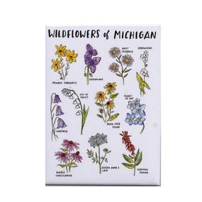 michigan wildflowers magnet