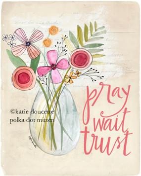 pray trust wait magnet