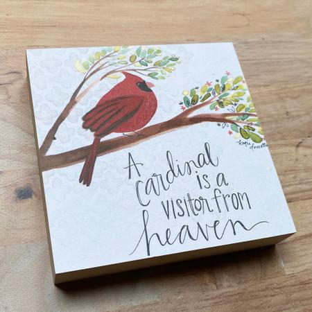cardinal from heaven art block