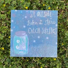 catch fireflies art block