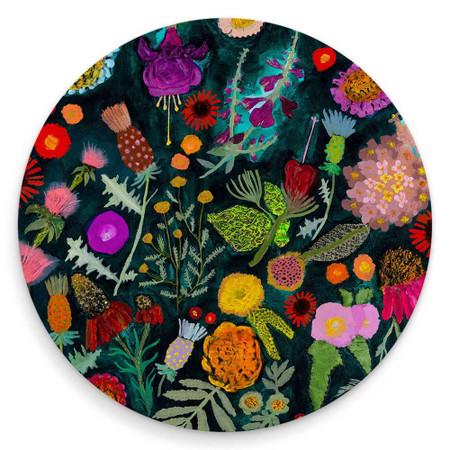 wildflower coaster , thistles