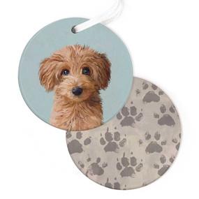 best friends ornament, irish doodle