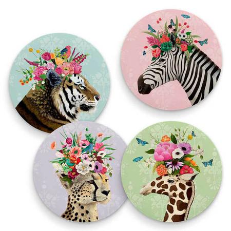 haute jungle coasters (set of 4)