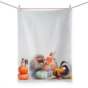 fall collection pumpkin pals tea towel