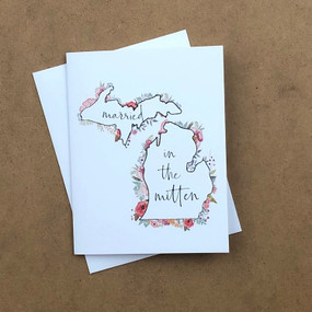 married in the mitten wedding card