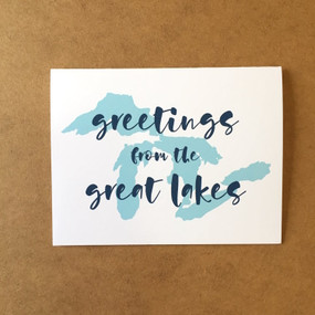 greetings from the great lakes card