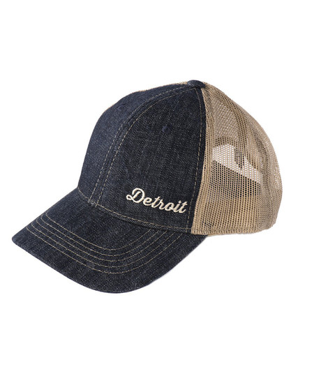 detroit denim and mesh hat