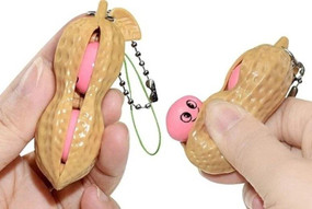 fidget peanut key chain